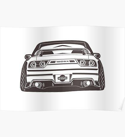 S13 180sx silvia Design Poster