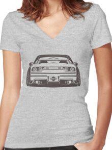S13 180sx silvia Design Women's Fitted V-Neck T-Shirt