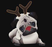Reindeer Pug Kids Tee