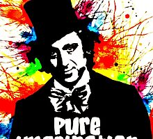 Pure Imagination Wonka watercolor splatter by justin13art