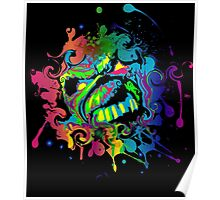 VIBRANT ABSTRACT ZOMBIE - small design Poster