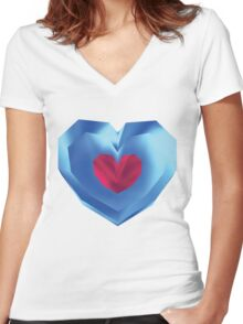OOT Piece of Heart Women's Fitted V-Neck T-Shirt
