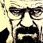 Walter White Pen & Ink Breaking by justin13art