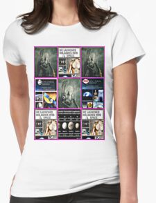 space burial Womens Fitted T-Shirt