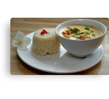 Thai Yellow Curry With Chicken and Vegetables Canvas Print
