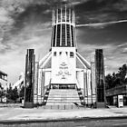 Liverpool Metropolitan Cathedral Black And White by Paul Madden