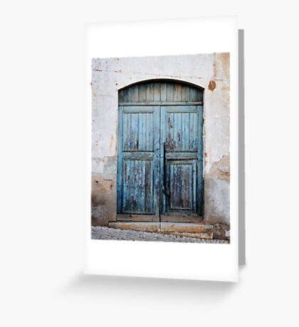 Blue decay Greeting Card
