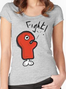 FIGHT! GLOVE! Women's Fitted Scoop T-Shirt