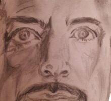 Robert Downey Jr. Drawing Sticker