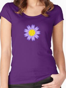 Cute cartoon flower Women's Fitted Scoop T-Shirt