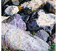 Shield Stone Photographic Print