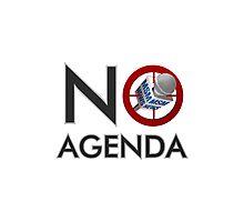 No Agenda Logo T - Women's Fitted Scoop Neck - The No Agenda Show Photographic Print