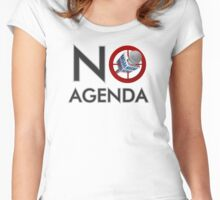 No Agenda Logo T - Women's Fitted Scoop Neck - The No Agenda Show Women's Fitted Scoop T-Shirt