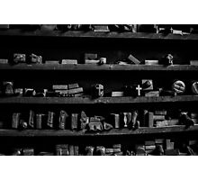 Tool Shelf Photographic Print