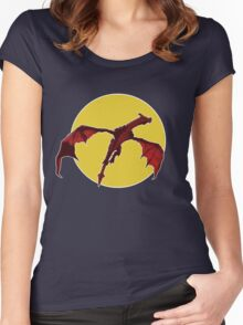 There Be Red Dragons  Women's Fitted Scoop T-Shirt