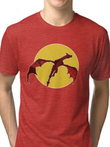 There Be Red Dragons  Tri-blend T-Shirt