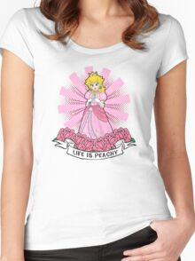 Life Is Peachy Women's Fitted Scoop T-Shirt