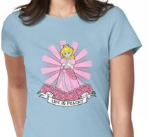 Life Is Peachy Womens Fitted T-Shirt