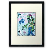 My Pet Zombie 2 - Here Kitty Kitty Framed Print
