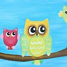 Owl Family on tree II by artshop77