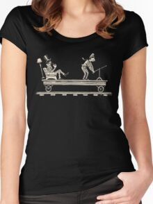 Handcar Limo Women's Fitted Scoop T-Shirt