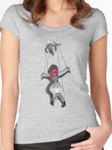 All Strung Up; Human Marionette Women's Fitted Scoop T-Shirt