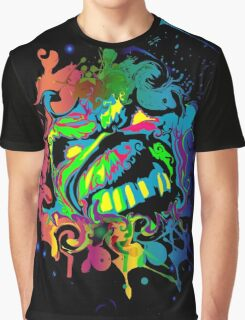 VIBRANT ABSTRACT ZOMBIE - large design Graphic T-Shirt