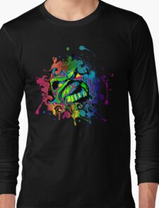 VIBRANT ABSTRACT ZOMBIE - large design Long Sleeve T-Shirt