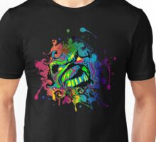 VIBRANT ABSTRACT ZOMBIE - large design Unisex T-Shirt