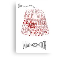 Doctor Who Fez & Bowtie from Vincent & the Doctor Canvas Print