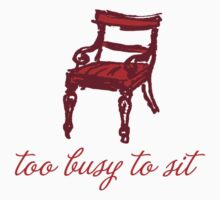 Too busy to sit - orange Kids Clothes