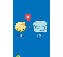 Cheese-cake Love Photographic Print