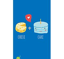 Cheese-cake Love Photographic Print