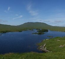 Connemara Ireland Lake Panorama by Allen Lucas