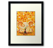 Gardening - Rondy the Elephant growing a plant Framed Print