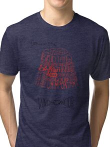 Doctor Who Fez & Bowtie from Vincent & the Doctor Tri-blend T-Shirt