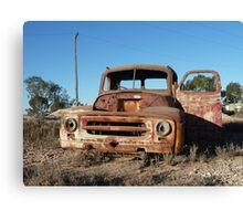Old truck atop Kangaroo Hill – Lightning Ridge Canvas Print
