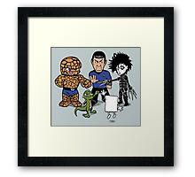 Rock, Paper, Scissors... Framed Print