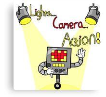 Undertale - Mettaton, Lights Camera Action! Canvas Print