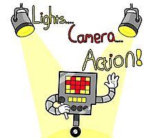 Undertale - Mettaton, Lights Camera Action! Photographic Print