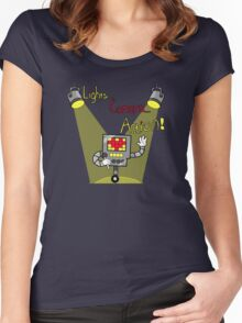 Undertale - Mettaton, Lights Camera Action! Women's Fitted Scoop T-Shirt
