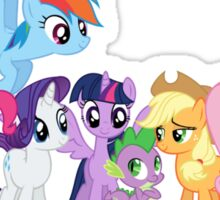 mane six /new Sticker