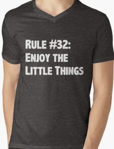 Rule #32 Enjoy the Little Things Mens V-Neck T-Shirt