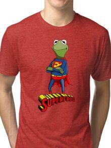 Kermit the Superman Tri-blend T-Shirt