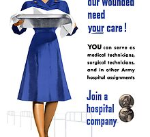 Women Our Wounded Need Your Care -- WWII by warishellstore