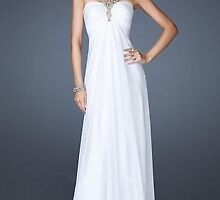 Long White Sweetheart Halter Gown,LF-19135 Evening Dresses    by hijuliagreen
