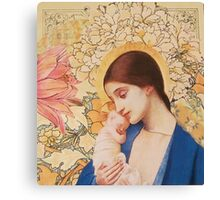 Madonna of The Blossoms Canvas Print