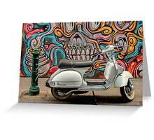 Vespa at Hosier Lane Greeting Card