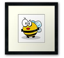 Cartoon bee Framed Print