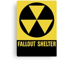 Fallout Shelter Sign Canvas Print